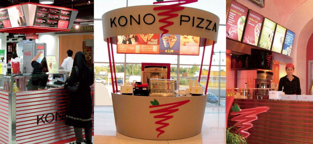 کیوسک و رستوران های فروش پیتزا قیفی