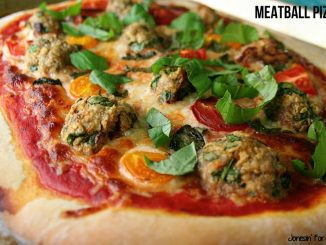 Baked Meatballs Pizza