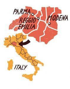 نقشه پنیر پارمسان
