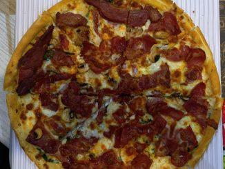 پیتزا بیکن سیب