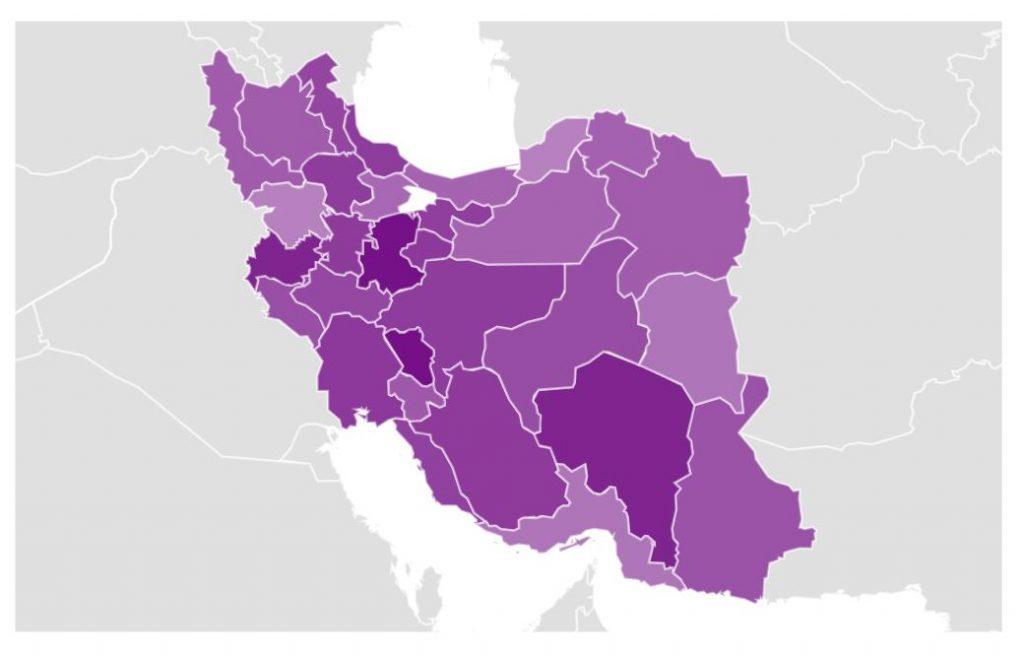 نقشه جستجوی نذری در ایران
